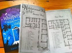 The map of Wilderwood Hall…